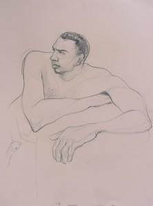 sketch desnudo masculino